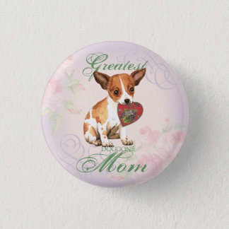 Chihuahua Heart Mom Pinback Button