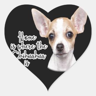 Chihuahua Heart Sticker