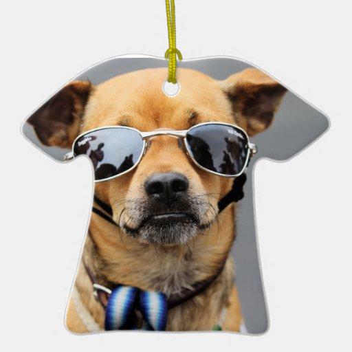 Chihuahua - Hello Ladies! Double-Sided T-Shirt Ceramic Christmas Ornament
