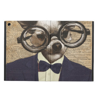 Chihuahua Hipster Dictionary Art Case For iPad Air