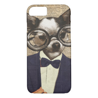 Chihuahua Hipster Dictionary Art iPhone 7 Case