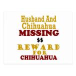 Chihuahua & Husband Missing Reward For Chihuahua Post Cards