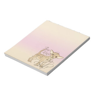Chihuahua I'm Kind of a Big Deal Graphic Design Note Pad