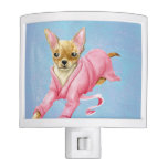 Chihuahua in a Bathrobe Dog Night Light