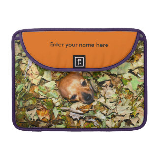 Chihuahua in Autumn Leaves Sleeve For MacBooks