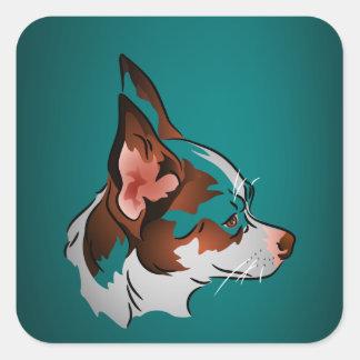 Chihuahua in Profile Square Stickers