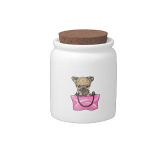 CHIHUAHUA IN PURSE CANDY DISHES