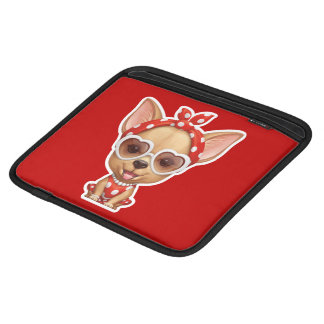 Chihuahua in the Guise of a Retro Beauty iPad Sleeve