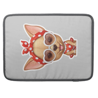 Chihuahua in the Guise of a Retro Beauty MacBook Pro Sleeve