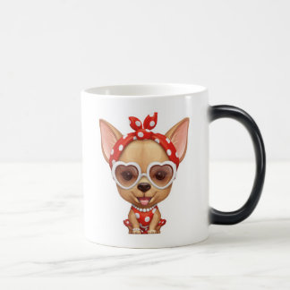 Chihuahua in the Guise of a Retro Beauty Magic Mug