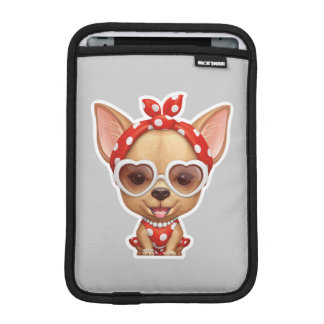 Chihuahua in the Guise of a Retro Beauty Sleeve For iPad Mini