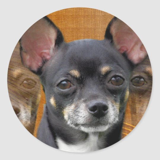 Chihuahua Isabella Cresent Moon Classic Round Sticker