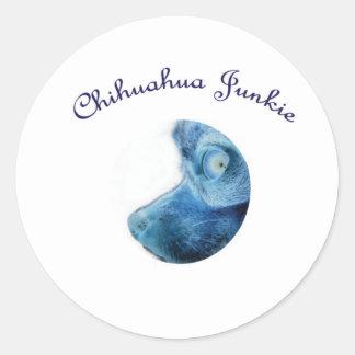 Chihuahua Junkie Classic Round Sticker
