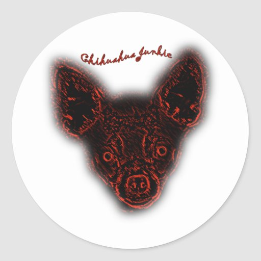 Chihuahua Junkie Stickers