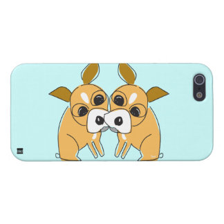 Chihuahua Kissing Dog iPhone 5 Case