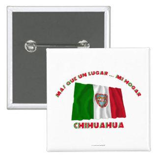Chihuahua - la O.N.U Lugar… MI Hogar de Más Que Pin Cuadrada 5 Cm