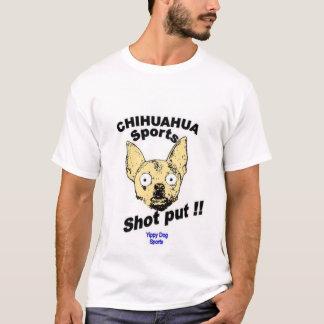 Chihuahua lanzamiento de peso playera