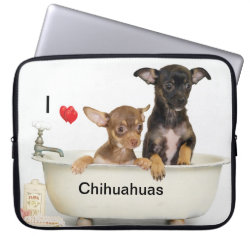 Neoprene Laptop Sleeve 15' with Chihuahua Phone Cases design