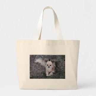 Chihuahua larga de la capa bolsa tela grande