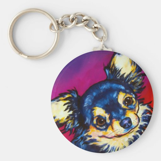 Chihuahua LC black and tan Key Chain