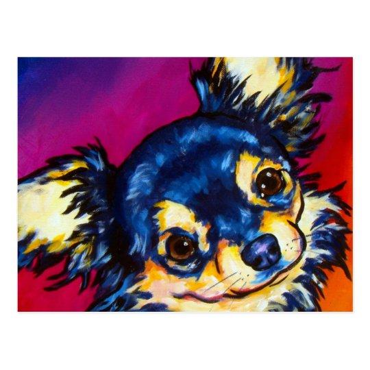 Chihuahua LC black and tan Postcard