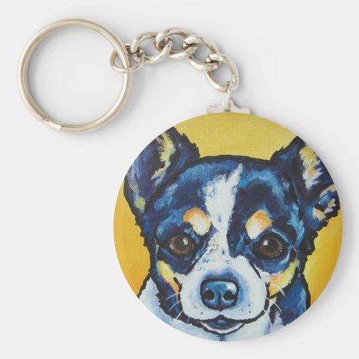 Chihuahua LC Black Tri (Lorenzo) Key Chains
