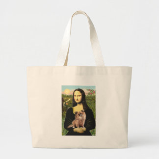 Chihuahua (LgHair-1) - Mona Lisa Bolsa Tela Grande