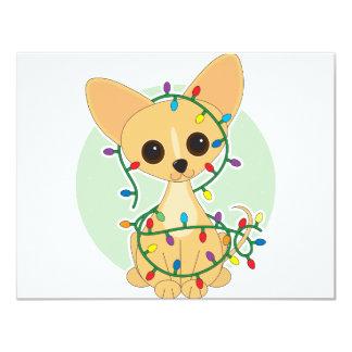 Chihuahua Lights 4.25x5.5 Paper Invitation Card