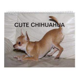 Chihuahua linda 2017 calendario de pared