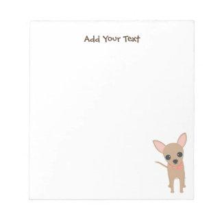 Chihuahua linda bloc de notas