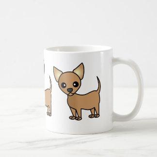 Chihuahua linda del dibujo animado taza básica blanca