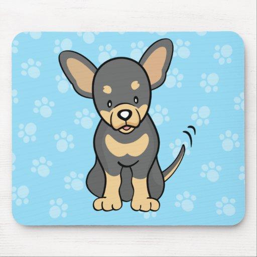 Chihuahua linda Mousepad del dibujo animado Tapete De Ratón