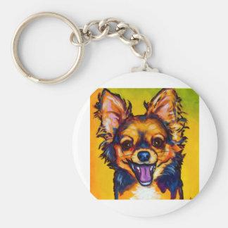 Chihuahua (long coat sable) keychain