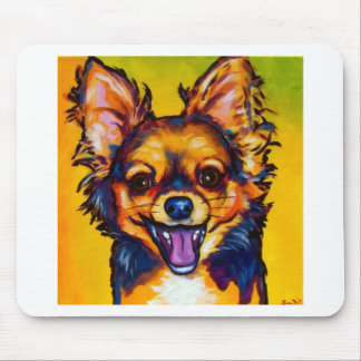 Chihuahua (long coat sable) mouse pad