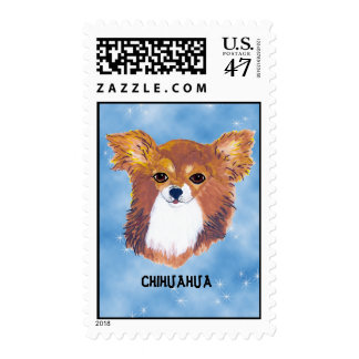 Chihuahua ~ Longhaired Portrait Postage Stamp