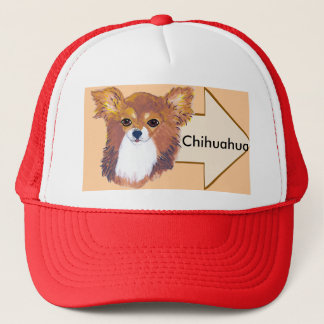 Chihuahua ~ Longhaired Portrait Trucker Hat