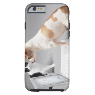 Chihuahua looking into the screen of a laptop tough iPhone 6 case