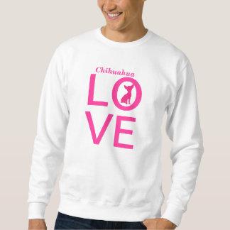 Chihuahua love cute pink mens, womens sweatshirt