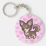 Chihuahua Love (long coat) Key Chain