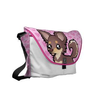 Chihuahua Love (long coat) Messenger Bag