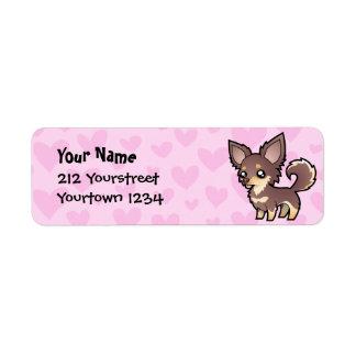 Chihuahua Love (long coat) Return Address Label