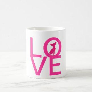 Chihuahua love pdog cute silhouette mug, gift idea classic white coffee mug