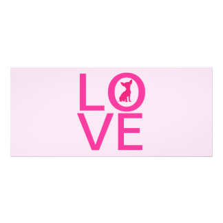 Chihuahua love pink dog cute bookmark, gift idea rack card template