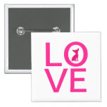 Chihuahua love pink dog cute button, pin, gift ide 2 inch square button