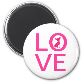 Chihuahua love pink dog cute silhouette magnet