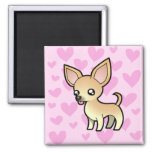 Chihuahua Love (smooth coat) 2 Inch Square Magnet