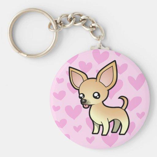 Chihuahua Love (smooth coat) Keychain