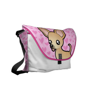 Chihuahua Love (smooth coat) Messenger Bag