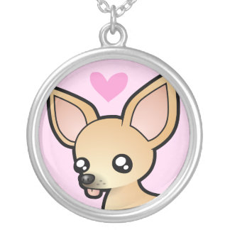 Chihuahua Love (smooth coat) Silver Plated Necklace