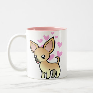 Chihuahua Love (smooth coat) Two-Tone Coffee Mug